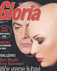 gloria casopis ceca svetlana raznatovic oliver manic naslov maj 2009