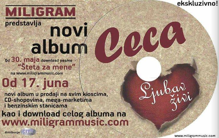 Ceca, Ljubav živi, omot, 2011 album