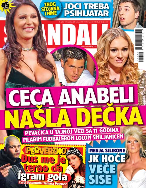 Ceca Anabeli našla dečka, Scandal, mart 2011
