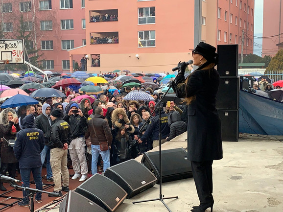 Ceca Ražnatović u Kosovskoj Mitrovici