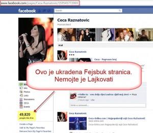 Ukradena Fejsbuk stranica Ceca - Pomozite nam da je povratimo